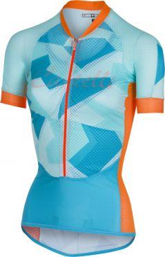 Castelli Climber's W jersey fietsshirt blauw/oranje dames
