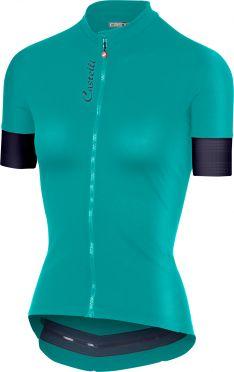 Castelli Anima 2 FZ fietsshirt groen dames