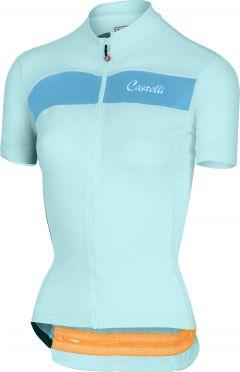Castelli Scheggia fietsshirt groen/blauw dames
