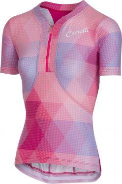 Castelli Alba jersey fietsshirt roze dames