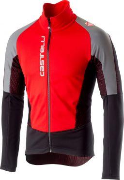 Castelli Mortirolo V reflex jacket rood heren