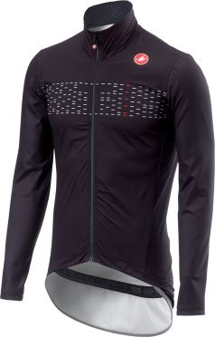 Castelli Pro fit light regen jacket zwart heren