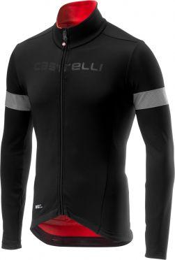 Castelli Nelmezzo ros lange mouw fietsshirt zwart/rood heren