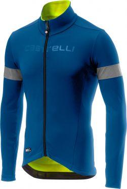 Castelli Nelmezzo ros lange mouw fietsshirt blauw/geel heren