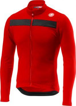 Castelli Puro 3 lange mouw fietsshirt rood heren