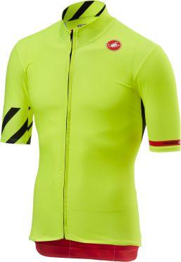 Castelli Mid weight korte mouw fietsshirt fluo geel heren