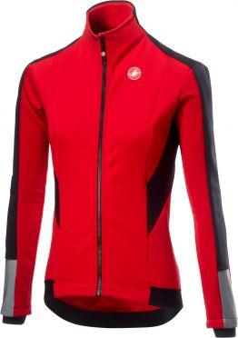Castelli Mortirolo 3 W lange mouw jacket rood dames
