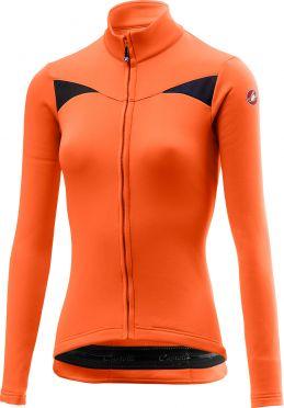 Castelli Sinergia fietsshirt lange mouw oranje dames