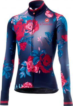 Castelli Scambio fietsshirt lange mouw donker blauw dames