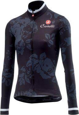 Castelli Scambio fietsshirt lange mouw licht zwart dames