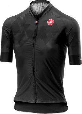 Castelli Aero Pro W FZ korte mouw shirt zwart dames