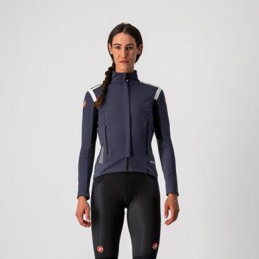 Castelli Perfetto RoS fietsjack lange mouw donkerblauw dames
