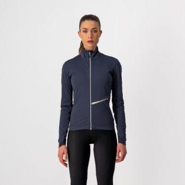 Castelli GO fietsjack donker blauw dames