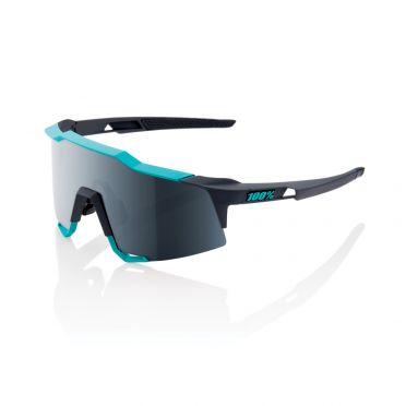 100% Speedcraft fietsbril grijs/groen met mirror lens grijs