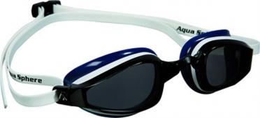Aqua Sphere K180 Zwembril donkere lens wit/blauw