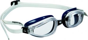 Aqua Sphere K180 Zwembril transparante lens wit/blauw