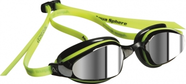 Aqua Sphere K180 Zwembril spiegellens geel/zwart