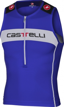 Castelli Core tri top blauw/wit heren