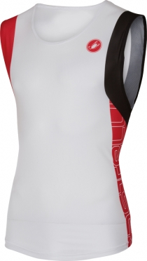 Castelli T.O. alii run top heren wit/rood 16067-123