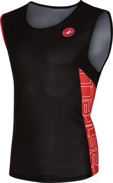 Castelli T.O. alii run top heren zwart/rood 16067-231