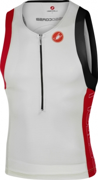 Castelli Free tri top heren wit/rood 16069-123