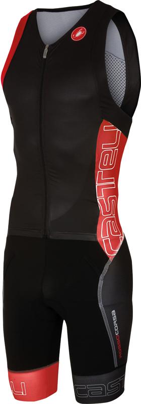 Castelli Free sanremo tri suit mouwloos heren zwart/rood 16071-231