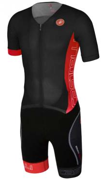 Castelli Free sanremo tri suit korte mouwen heren zwart/rood 16073-231