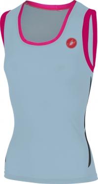Castelli Alii run top blauw/roze dames