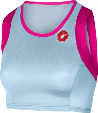 Castelli Free W short top blauw/roze dames