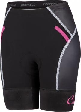 Castelli Free W tri short zwart/roze dames 16078-010