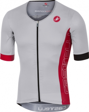 Castelli Free speed race jersey tri top wit/rood heren