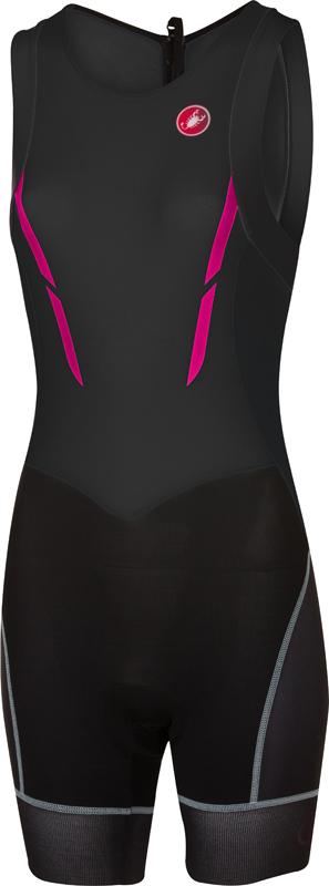 Castelli Short distance W tri suit mouwloos zwart/roze dames