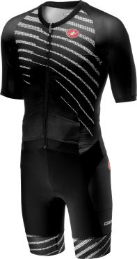 Castelli All out speed trisuit korte mouw zwart/zwart heren