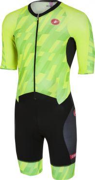 Castelli All out speed trisuit korte mouw pro groen/zwart heren