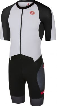 Castelli All out speed trisuit korte mouw wit/zwart heren