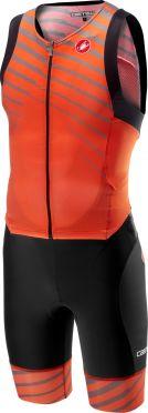Castelli Free sanremo trisuit mouwloos zwart/oranje heren