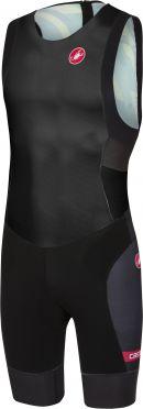 Castelli Short distance race trisuit rits achterzijde mouwloos zwart heren