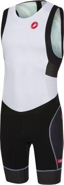 Castelli Short distance race trisuit rits achterzijde mouwloos wit/zwart heren