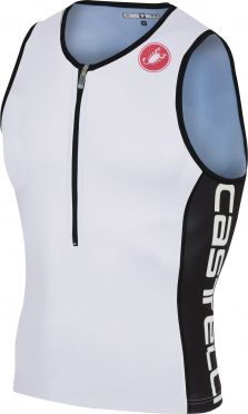 Castelli Core 2 tri top wit/zwart heren