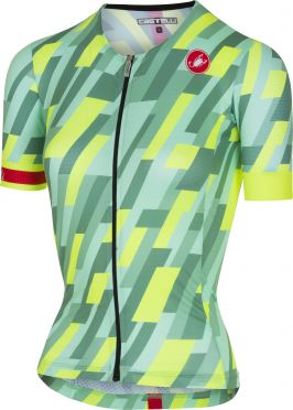 Castelli Free speed W race jersey tri top mint/fluo geel dames