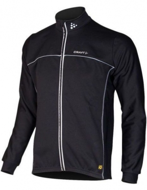 Craft Thermo Schaatsjack windstopper flatlock zwart