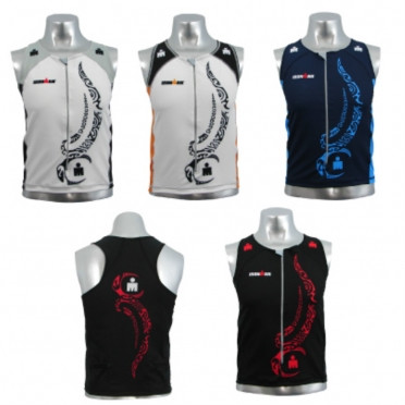 Ironman men's zip tri top tattoo line (8925)