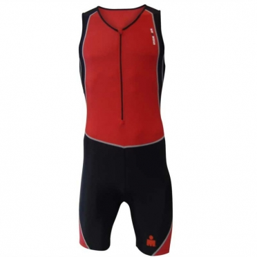 Ironman men's trisuit Sleeveless red-black