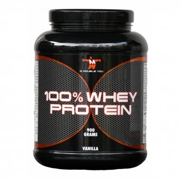 M Double You 100% Whey Protein 900 gram aardbei