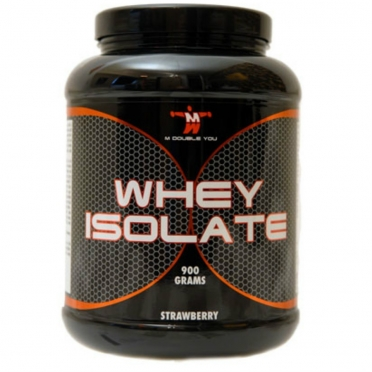M Double You Whey Isolate 900 gram aardbei
