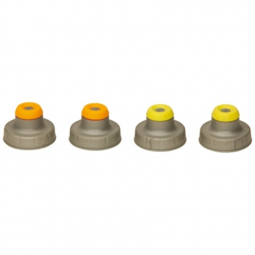 Nathan Push Pull Caps 4-Pack zilver 975246
