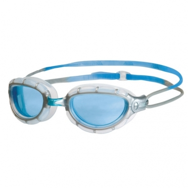 Zoggs Predator zwembril zilver/blauw - blauwe lens