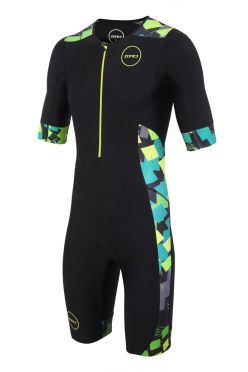 Zone3 Activate plus korte mouw trisuit Electric sprint heren