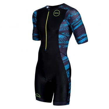Zone3 Activate plus korte mouw trisuit Stealth speed heren