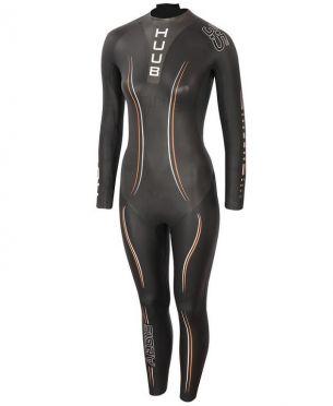 Huub Aegis II thermal 3:5 wetsuit zwart dames